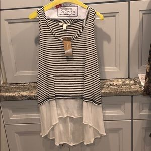 Francescas NWT high-low tank size small